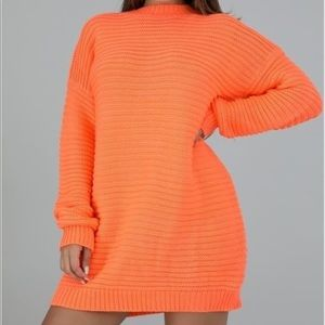Dresses & Skirts - Neon Coral Sweater Dress